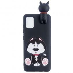 """""""Black Dog"""" kieto silikono (TPU) dėklas - juodas (Galaxy A41)"""