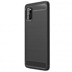"""""""Carbon"""" kieto silikono (TPU) dėklas - juodas (Galaxy A41)"""