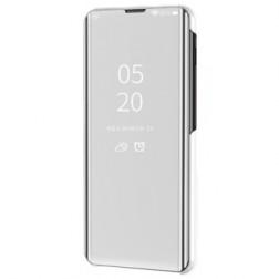Plastikinis atverčiamas dėklas - sidabrinis (Galaxy A41)
