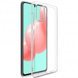 Kieto silikono (TPU) dėklas - skaidrus (Galaxy A41)