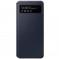 """""""Samsung"""" S View Wallet Cover atverčiamas dėklas - juodas (Galaxy A41)"""