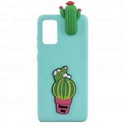 """""""Squezy"""" Cactus kieto silikono (TPU) dėklas - mėtinis (Galaxy A41)"""