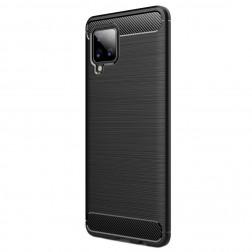 """""""Carbon"""" kieto silikono (TPU) dėklas - juodas (Galaxy A42 5G)"""
