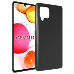 Kieto silikono (TPU) dėklas - juodas (Galaxy A42 5G)