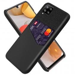 """""""KSQ"""" Shell dėklas su kišenėle - juodas (Galaxy A42 5G)"""
