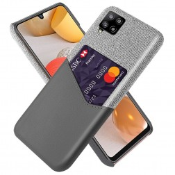 """""""KSQ"""" Shell dėklas su kišenėle - pilkas (Galaxy A42 5G)"""