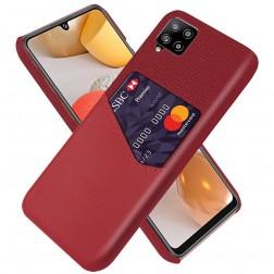 """""""KSQ"""" Shell dėklas su kišenėle - raudonas (Galaxy A42 5G)"""
