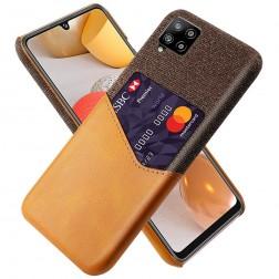 """KSQ"" Shell dėklas su kišenėle - rudas (Galaxy A42 5G)"