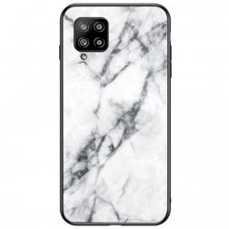"""""""Marble"""" kieto silikono (TPU) dėklas - baltas (Galaxy A42 5G)"""