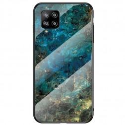 """Marble"" kieto silikono (TPU) dėklas - mėlynas (Galaxy A42 5G)"