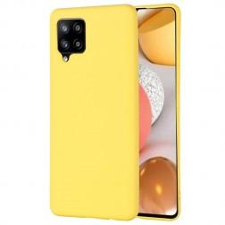 """""""Shell"""" kieto silikono (TPU) dėklas - geltonas (Galaxy A42 5G)"""