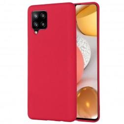 """""""Shell"""" kieto silikono (TPU) dėklas - raudonas (Galaxy A42 5G)"""