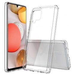 Kieto silikono (TPU) akrilinis dėklas - skaidrus (Galaxy A42 5G)