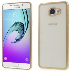 Skaidrus silikoninis (TPU) dėklas - auksinis (Galaxy A5 2016)