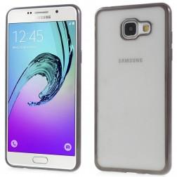 Skaidrus silikoninis (TPU) dėklas - pilkas (Galaxy A5 2016)