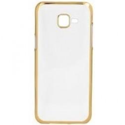 Silikoninis skaidrus dėklas, auksinis  (Galaxy A5 2016)