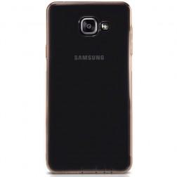 Pilnai dengiantis TPU skaidrus dėklas - šviesiai rudas (Galaxy A5 2016)