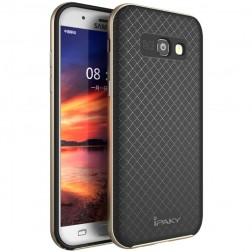 """""""IPAKY"""" kieto silikono (TPU) dėklas - juodas / auksinis (Galaxy A5 2017)"""