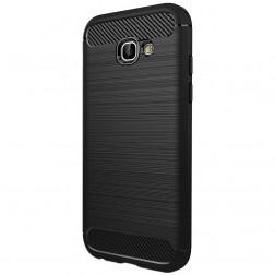 """""""Carbon"""" kieto silikono (TPU) dėklas - juodas (Galaxy A5 2017)"""