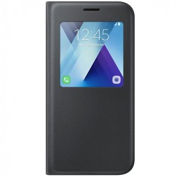"""""""Samsung"""" S View Cover atverčiamas dėklas - juodas (Galaxy A5 2017)"""