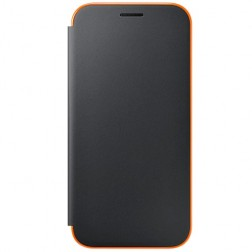 """""""Samsung"""" Neon Flip Cover atverčiamas dėklas - juodas (Galaxy A5 2017)"""
