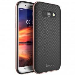 """""""IPAKY"""" kieto silikono (TPU) dėklas - juodas / rožinis (Galaxy A5 2017)"""