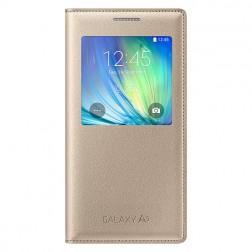 """""""Samsung"""" S View Cover atverčiamas dėklas - auksinis (Galaxy A5 2015)"""