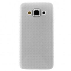 """""""Dots"""" kieto silikono (TPU) dėklas - baltas (Galaxy A5 2015)"""