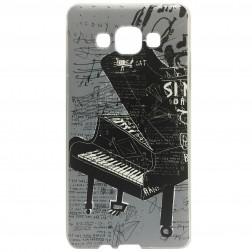 """""""Piano"""" kieto silikono (TPU) dėklas - pilkas (Galaxy A5 2015)"""