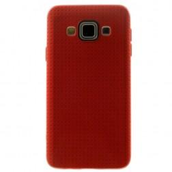 """""""Dots"""" kieto silikono (TPU) dėklas - raudonas (Galaxy A5 2015)"""