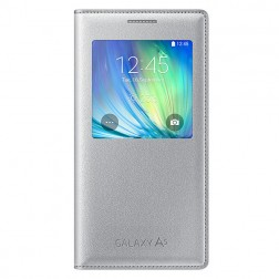 """""""Samsung"""" S View Cover atverčiamas dėklas - sidabrinis (Galaxy A5 2015)"""