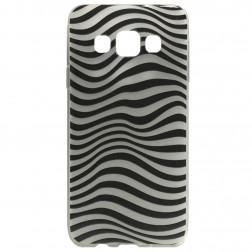 """Zebra"" kieto silikono (TPU) dėklas - juodas (Galaxy A5 2015)"
