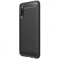 """""""Carbon"""" kieto silikono (TPU) dėklas - juodas (Galaxy A50)"""