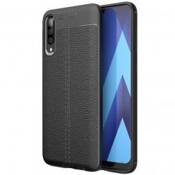 """""""FOCUS"""" kieto silikono (TPU) dėklas - juodas (Galaxy A50)"""