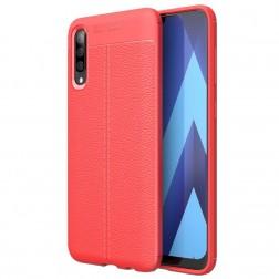 """""""FOCUS"""" kieto silikono (TPU) dėklas - raudonas (Galaxy A50)"""