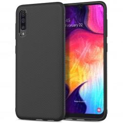 """""""Pattern"""" kieto silikono (TPU) dėklas - juodas (Galaxy A50)"""