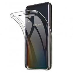 Kieto silikono (TPU) dėklas - skaidrus (Galaxy A50)
