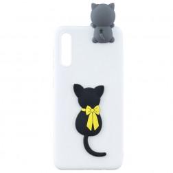 """""""Squezy"""" Cat kieto silikono (TPU) dėklas - baltas (Galaxy A50 / A50s / A30s)"""
