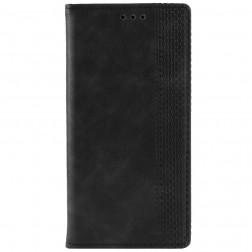 """""""Vintage"""" atverčiamas dėklas - juodas (Galaxy A50)"""
