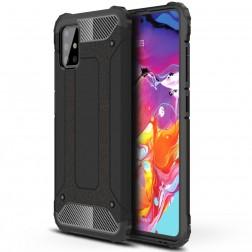 Sustiprintos apsaugos dėklas - juodas (Galaxy A51)