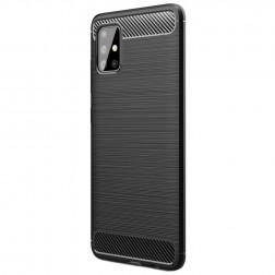 """""""Carbon"""" kieto silikono (TPU) dėklas - juodas (Galaxy A51)"""