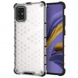 """""""Honeycomb"""" sustiprintos apsaugos dėklas - skaidrus (Galaxy A51)"""