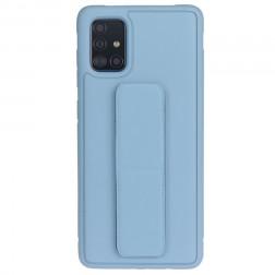 """""""Finger Grip"""" Kickstand  kieto silikono (TPU) dėklas - mėlynas (Galaxy A51)"""