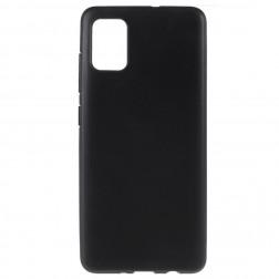 Kieto silikono (TPU) dėklas - juodas (Galaxy A51)