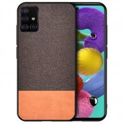 """""""Bi-Color"""" Splicing dėklas - rudas (Galaxy A51)"""