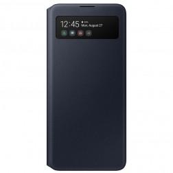"""""""Samsung"""" S View Wallet Cover atverčiamas dėklas - juodas (Galaxy A51)"""
