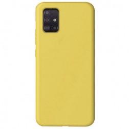 """""""Shell"""" kieto silikono (TPU) dėklas - geltonas (Galaxy A51)"""