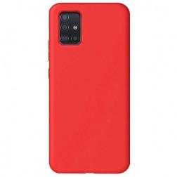"""""""Shell"""" kieto silikono (TPU) dėklas - raudonas (Galaxy A51)"""