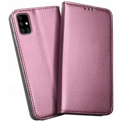 """""""Shell"""" Skin atverčiamas dėklas - bordo (Galaxy A51)"""