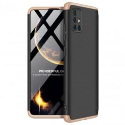 """Thin Fit 360"""" plastikinis dėklas - juodas / auksinis (Galaxy A51)"""